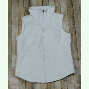 Columbia Nylon Zip Up Vest Fleece Lined Active